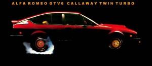 Alfa Romeo callaway GTV6 Twin Turbo